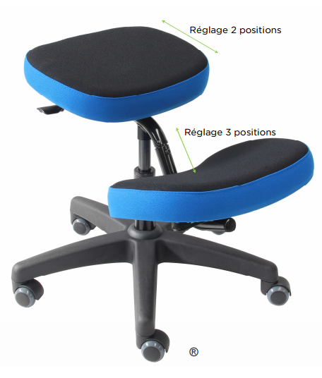 Siège assis-genoux Bron
