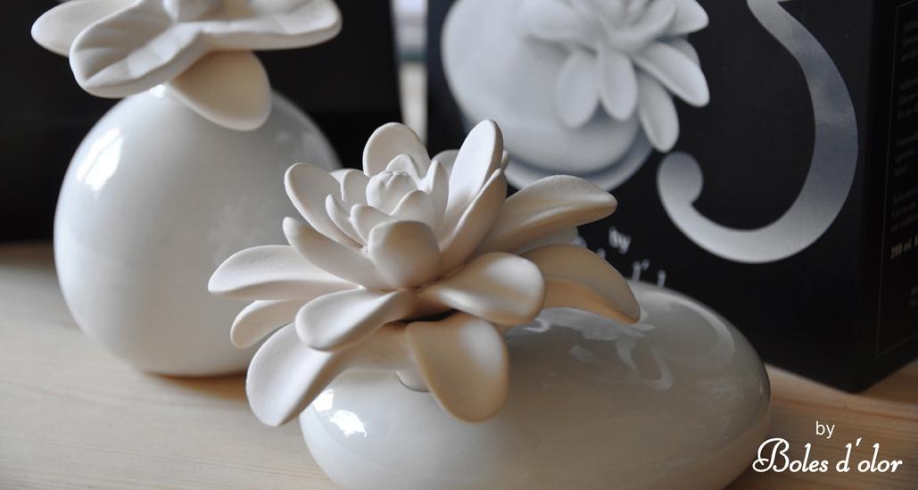 Diffuseur fleur céramique Mikado