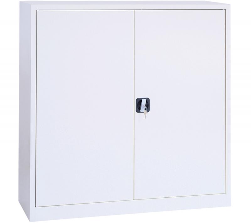 Armoire basse portes battantes métallique