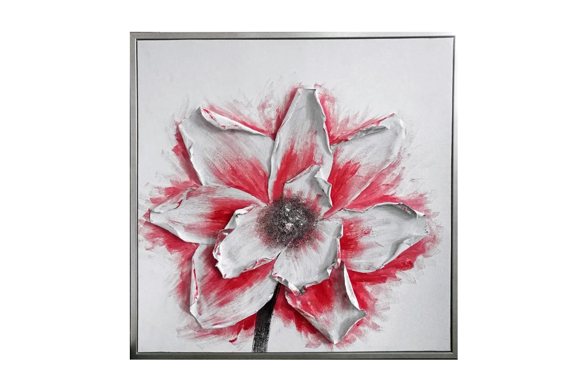 Tableau Fleur relief